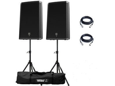 Electro-Voice ZLX-15P Active Speakers & Stands Package