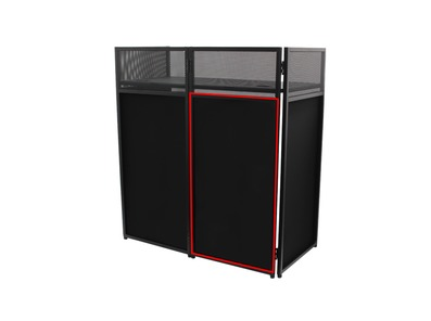 Equinox Combi Booth System Replacement Black Lycra Set (4 Panels)