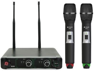 SU20 Dual UHF Handheld Mic Set Red + Green