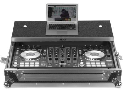 UDG Flightcase DDJ-RX/SX2/SX3 + (Laptop Shelf) - Silver Plus