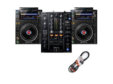 Pioneer DJ CDJ-3000 (x2) + DJM-450 with Cable