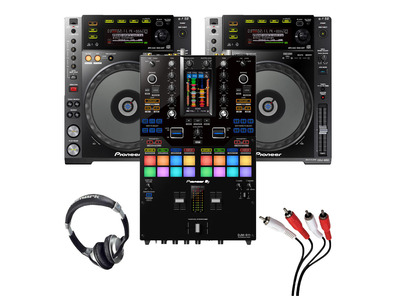 Pioneer CDJ-850 (Pair) + DJM-S11 SE with Headphones + Cable