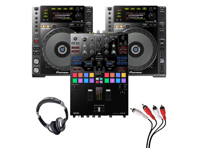 Pioneer CDJ-850 (Pair) + DJM-S9 with Headphones + Cable