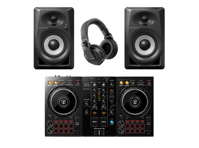 Pioneer DJ DDJ-400 with DM40BT Speakers & HDJ-X5 Headphones