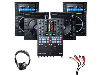 Denon LC6000 (x2) + SC6000M (x2) + Rane Seventy-Two MKII w/ Headphones + Cable