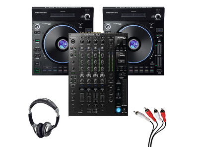 Denon LC6000 (Pair) + X1850 Mixer with Headphones + Cable