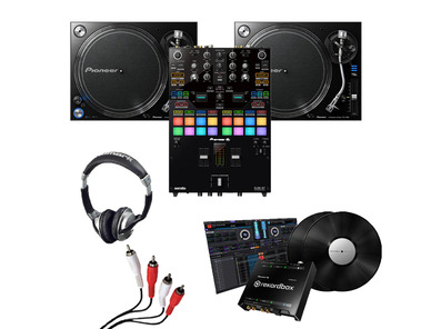Pioneer PLX-1000 (Pair), DJM-S7 + DVS Kit with Headphones & Cable