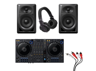Pioneer DDJ-FLX6 + DM-40 with Headphones + Cable