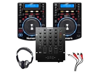 Numark NDX500 & Numark M4 Mixer Package