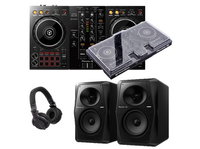 Pioneer DJ DDJ-400 + VM-50 with Decksaver & Headphones