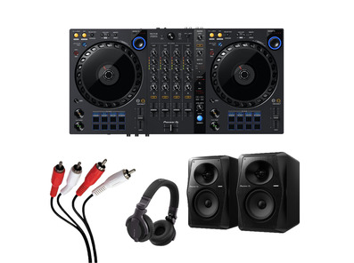 Pioneer DDJ-FLX6 + VM-50 with Headphones + Cable