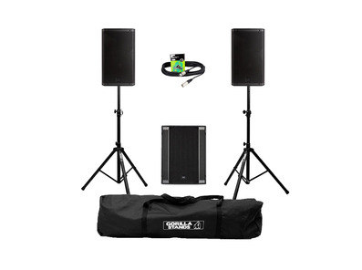RCF Art 935-A (Pair) + 708AS II Sub with Stands, Carry Bag & Cables