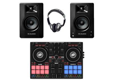 Reloop Ready + M-Audio BX4 with Headphones