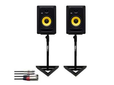 KRK RP8 Classic (Pair) with GSM-100 Stands + Cable