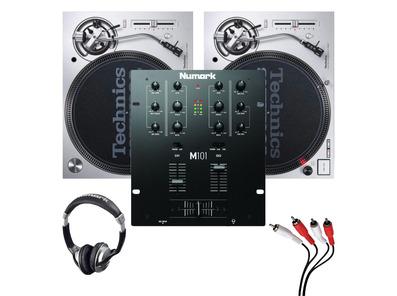 Technics SL1200MK7 (Pair) + Numark M101 with Headphones & Cable
