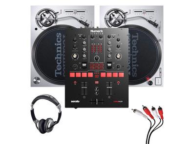 Technics SL1200MK7 (Pair) + Scratch Mixer with Headphones + Cable