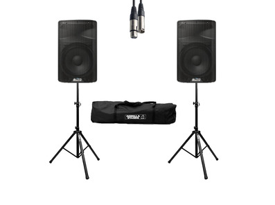 Alto TX315 (Pair) with Stands, Cables & Carry Bag