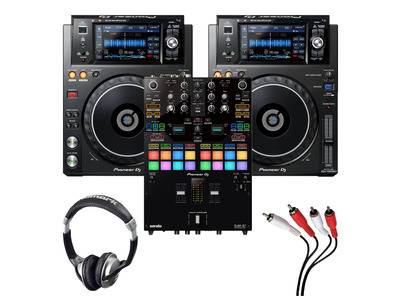 Pioneer DJM-S7 + XDJ-1000MK2 (Pair) with Headphones + Cable