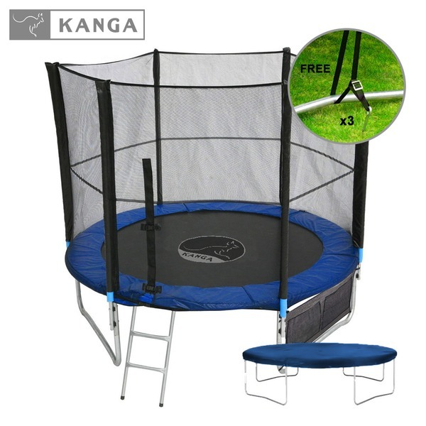 KANGA Fitness 8ft Trampoline Inc Enclosure, Net, Winter