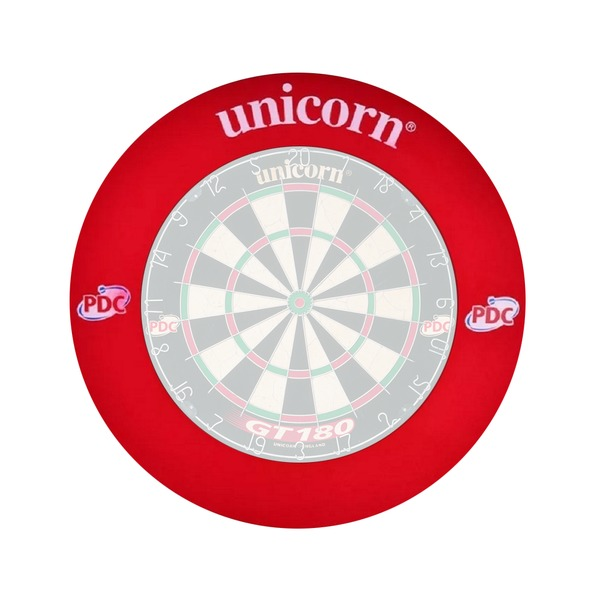 Unicorn PDC Striker Dartboard with PDC Dartboard Surround EVA Lightweight Ring