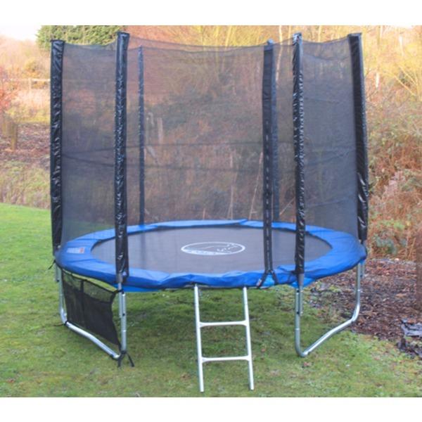 Kanga 10ft Trampoline With Enclosure / Safety Net, Ladder