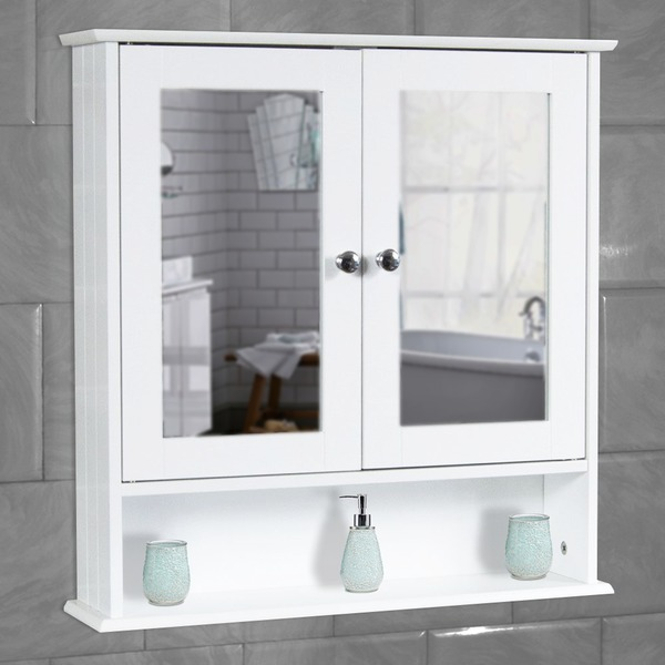 white bathroom wall cabinet storage cupboard with mirror