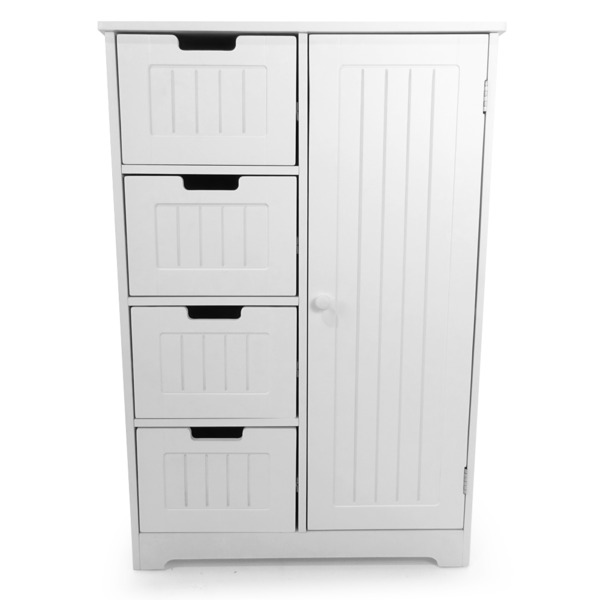 Bathroom Bedroom Nursery Storage Cabinet Dresser 4-Drawer ...