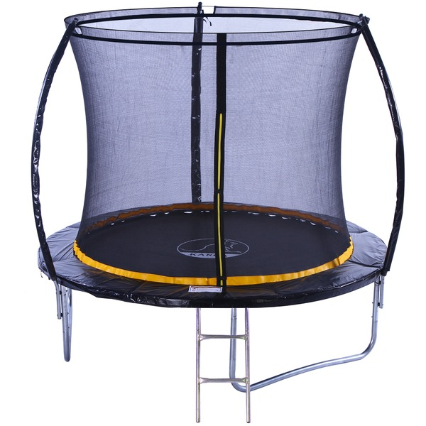 KANGA 8ft Trampoline With Enclosure, Safety Net Ladder
