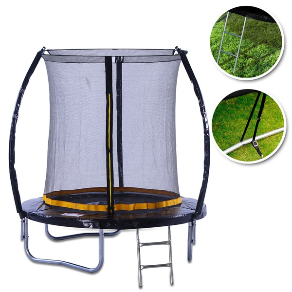 KANGA 6ft Outdoor Trampoline With Enclosure, Safety Net