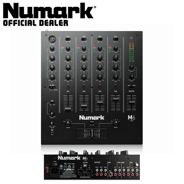 numark m6 usb black desktop 4 channel club dj scratch mixer with usb ebay. Black Bedroom Furniture Sets. Home Design Ideas