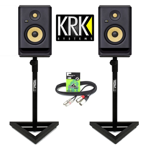 studio speakers krk g4 rp5 rokit gorilla monitor stands dj active cable inc enlarge