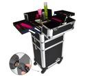 Pro Cosmetic Beauty Makeup Trolley Case Black