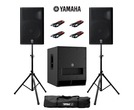 Yamaha DXR15 (Pair) & DXS15 MK2 with Stands & Cables