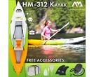 2019 Aqua Marina Betta HM-K0 Single 1 Person Inflatable Kayak Inc Paddle