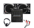 Reloop RMX-44 BT + RP-7000 MK2 (Pair) with Headphones + Cable