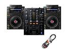 Pioneer DJ CDJ-3000 (x2) + DJM-450 with Cable