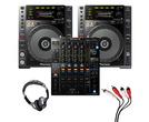 Pioneer CDJ-850 (Pair) + DJM-900 NXS2 with Headphones + Cable