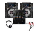 Pioneer CDJ-900 NXS (Pair) + DJM-900 NXS2 with Headphones + Cable