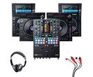 Denon LC6000 (x2) + SC6000 (x2) + Rane Seventy-Two MKII w/ Headphones + Cable