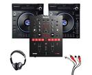 Denon LC6000 Prime (Pair) + Numark Scratch Mixer with Headphones + Cable