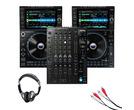 Denon DJ SC6000 Prime Media Player (Pair) + X1850 Prime Mixer