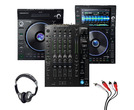 Denon LC6000 + SC6000 + X1850 Mixer with Headphones + Cable