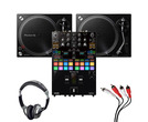 Pioneer PLX-500 (Pair) + DJM-S7 with Headphones + Cable