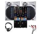 Technics SL1200MK7 (Pair) + DJM-S11 Mixer with Headphones + Cable