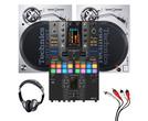 Technics SL1200MK7 (Pair) + DJM-S11 SE Mixer with Headphones + Cable