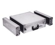 Soundlab Silver SP3UR 3U Full Flight Rack Case