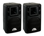 W Audio PSR-8A / PSR8A Powered PA Speakers PAIR