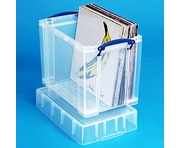 19 Litre XL Really Useful Box Clear 50 LP Vinyl Storage