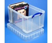 48 Litre XL Really Useful Box Clear 140 LP Vinyl Storage