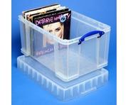 48 Litre XL Really Useful Box Clear 140 LP Vinyl Storage